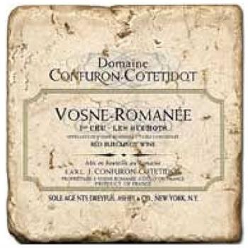 Marble Tile, Theme: French Wine Labels 4 A, antique finish, hanger, anti slip nubs, Dim.: l 20 x w 20 x h 1 cm