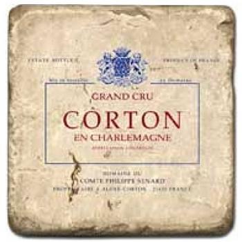 Marble Tile, Theme: French Wine Labels 5 D, antique finish, hanger, anti slip nubs, Dim.: l 20 x w 20 x h 1 cm