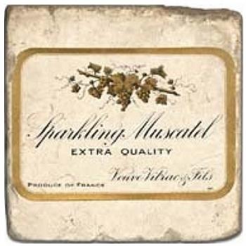 Marble Tile, Theme: Champagne Labels A, antique finish, hanger, anti slip nubs, Dim.: l 20 x w 20 x h 1 cm
