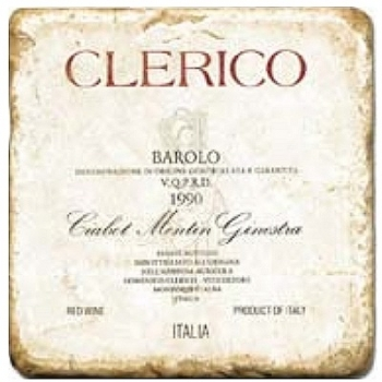 Marble Tile, Theme: Italian Wine Labels 2 A, antique finish, hanger, anti slip nubs, Dim.: l 20 x w 20 x h 1 cm