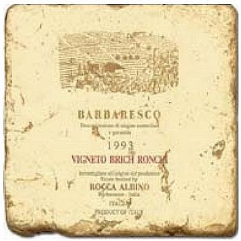 Marble Tile, Theme: Italian Wine Labels 2 C, antique finish, hanger, anti slip nubs, Dim.: l 20 x w 20 x h 1 cm