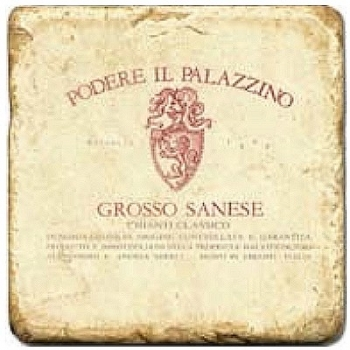Marble Tile, Theme: Italian Wine Labels 2 D, antique finish, hanger, anti slip nubs, Dim.: l 20 x w 20 x h 1 cm