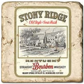 Marble Tile, Theme: Whiskey Labels A, antique finish, hanger, anti slip nubs, Dim.: l 20 x w 20 x h 1 cm