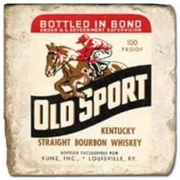 Marble Tile, Theme: Whiskey Labels B, antique finish, hanger, anti slip nubs, Dim.: l 20 x w 20 x h 1 cm