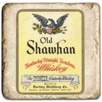 Marble Tile, Theme: Whiskey Labels D, antique finish, hanger, anti slip nubs, Dim.: l 20 x w 20 x h 1 cm