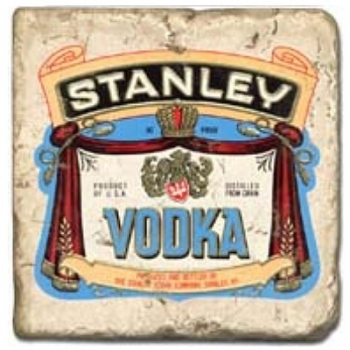 Marble Tile, Theme: Vodka Labels C, antique finish, hanger, anti slip nubs, Dim.: l 20 x w 20 x h 1 cm