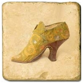Marble Tile, Theme: Chaussures D, antique finish, hanger, anti slip nubs, Dim.: l 20 x w 20 x h 1 cm