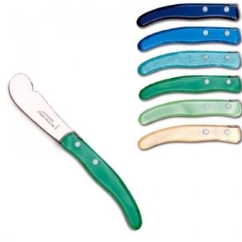 Laguiole Berlingot Buttermesser Set in Box, Bleu-Vert, 6 St., Kunstst., Bleu, Azur, Turquoise, Vert, Vert pâle, Naturel, Maße: L 18 cm