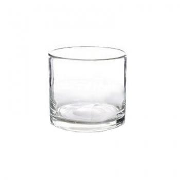 Collection DutZ® vase/récipient cylindrique, h 14 x Ø 14 cm, Colori: transparent