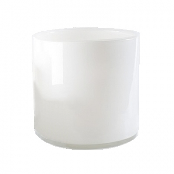 Collection DutZ® vase/récipient cylindrique, h 18 x Ø 18 cm, blanc