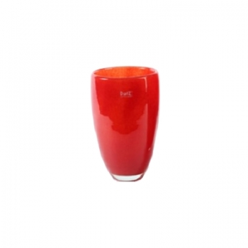DutZ®-Collection Flower Vase, h 26 x Ø 16 cm, colour: red