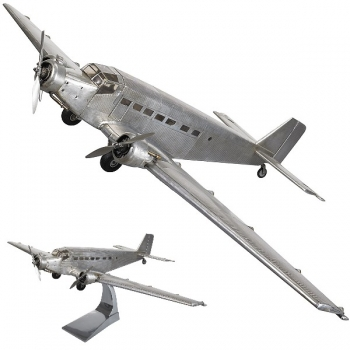 Airplane Model Junkers JU52, detailed design, on stand, Dimensions: l 67 x w 102 x h 26 cm