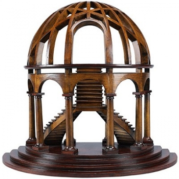 Half-Dome Model, solid wood, cherry/birch, h 46 x w 41 x d 25 cm
