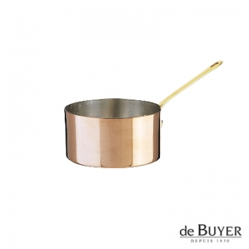de Buyer, Casserole, 90% copper, 10% stainless steel, solid brass handle, Ø 10 x h 5.5 cm, 0.5 l