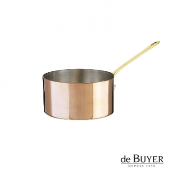 de Buyer, Casserole, 90% copper, 10% stainless steel, solid brass handle, Ø 12 x h 6.0 cm, 0.8 l