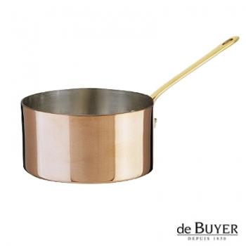 de Buyer, Casserole, 90% copper, 10% stainless steel, solid brass handle, Ø 18 x h 10 cm, 2.5 l