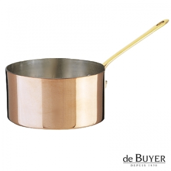 de Buyer, Casserole, 90% copper, 10% stainless steel, solid brass handle, Ø 20 x h 11 cm, 3.5 l