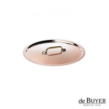 de Buyer, Lid, round, 90% copper, 10% stainless steel, solid brass handle, Ø 14 cm