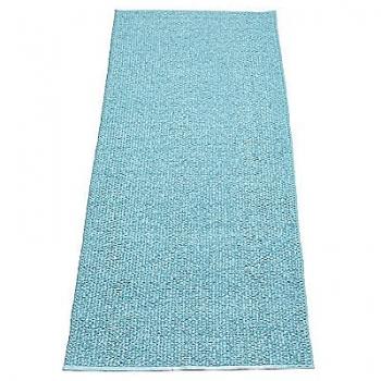Pappelina Carpet Svea, azur/metallic, softvinyl-bandweave, l 160 x w 70 cm