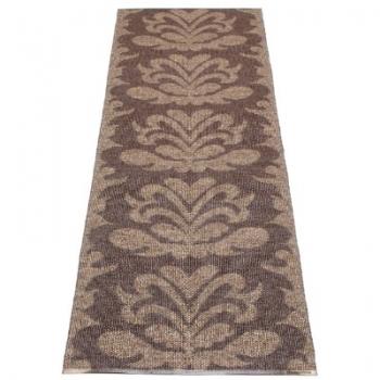 Pappelina Carpet Siri, light brown/dark brown/metallic, softvinyl-bandweave, l 150 x w 70 cm