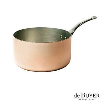 de Buyer, Casserole, for induction, 90% copper, 10% stainless steel, solid stainless steel handle, Ø 20 x h 11 cm, 3.5 l