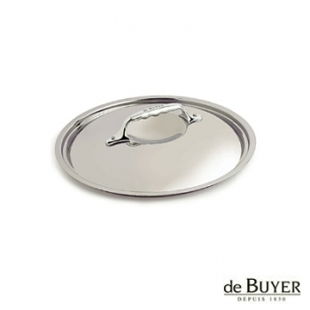 de Buyer, Lid, round, for induction, solid stainless steel handle, Ø 14 cm