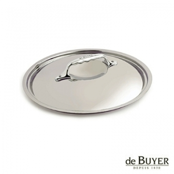 de Buyer, Lid, round, for induction, solid stainless steel handle, Ø 18 cm