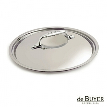 de Buyer, Lid, round, for induction, solid stainless steel handle, Ø 24 cm