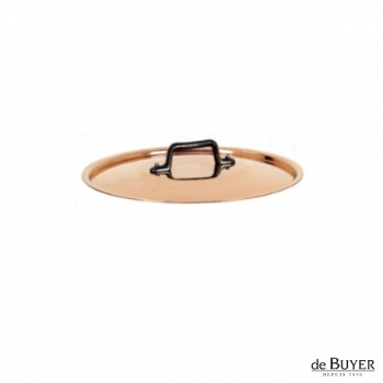 de Buyer, Lid, round, 90% copper, 10% stainless steel, solid cast iron handle, Ø 12 cm