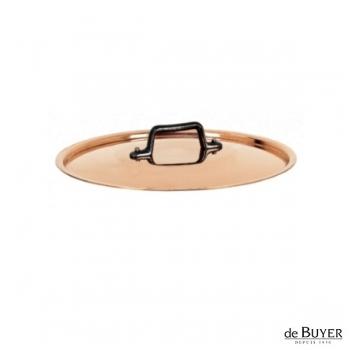de Buyer, Lid, round, 90% copper, 10% stainless steel, solid cast iron handle, Ø 16 cm
