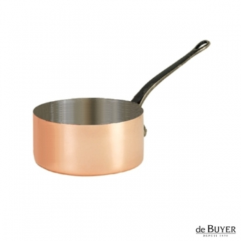 de Buyer, Casserole, 90% copper, 10% stainless steel, solid cast iron handle, Ø 14 x h 8 cm, 1.2 l