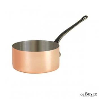 de Buyer, Casserole, 90% copper, 10% stainless steel, solid cast iron handle, Ø 16 x h 9 cm, 1.8 l