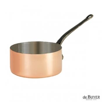 de Buyer, Casserole, 90% copper, 10% stainless steel, solid cast iron handle, Ø 18 x h 10 cm, 2.5 l