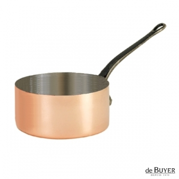 de Buyer, Casserole, 90% copper, 10% stainless steel, solid cast iron handle, Ø 20 x h 10.5 cm, 3.3 l