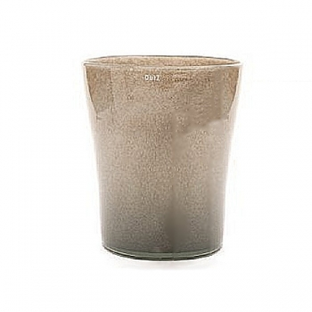 Collection DutZ® vase Conic, h 23 x Ø 20 cm, Colori: gris/marron