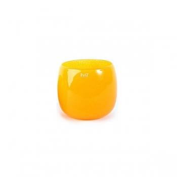 Collection DutZ® vase/récipient Pot, h 11 x Ø 13 cm, Colori: orangé jaune