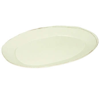 Virginia Casa Linea Lastra, 1 serving plate oval, Bianco, l 47 x w 32 cm
