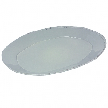 Virginia Casa Linea Lastra, 1 serving plate oval, Grigio, l 47 x w 32 cm