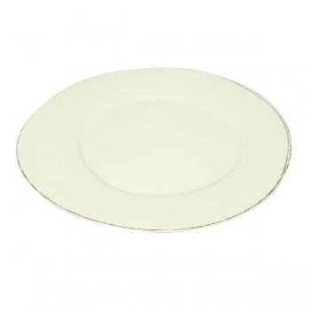 Virginia Casa Linea Lastra, 2 service plates, Bianco, Ø 36 cm