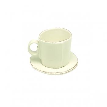 Virginia Casa Linea Lastra, 6 espresso cups with saucer, Bianco, Ø 11 cm