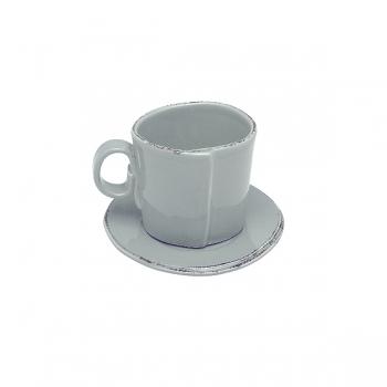 Virginia Casa Linea Lastra, 6 espresso cups with saucer, Grigio, Ø 11 cm