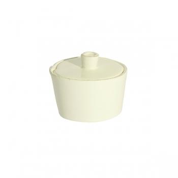 Virginia Casa Linea Lastra, sugar pot with lid, Bianco, Ø 7 cm