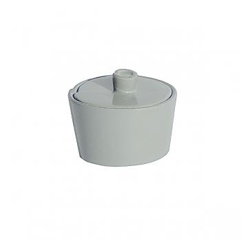 Virginia Casa Linea Lastra, sugar pot with lid, Grigio, Ø 7 cm