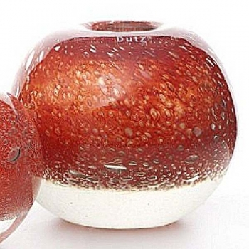 DutZ®-Collection Vase Bubble Ball, H 20 x Ø 20 cm, Farbe: Rot
