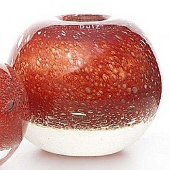 DutZ®-Collection Vase Bubble Ball, h 20 x Ø 20 cm, colour: red