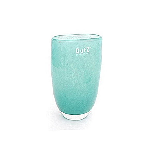 DutZ®-Collection Vase Oval, klein, H 16 x B 11 x T 8 cm, Farbe: Jade