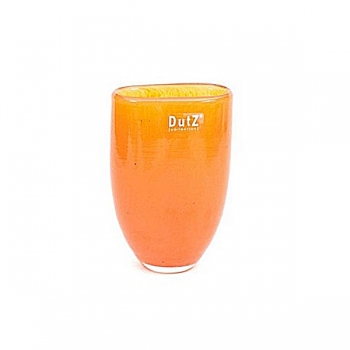 DutZ®-Collecdion Vase Oval, small, h 16 x w 11 x d 8 cm, color: yellow orange