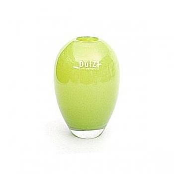DutZ®-Collecdion Vase, h 17 x Ø 11 cm, color: lime/clear
