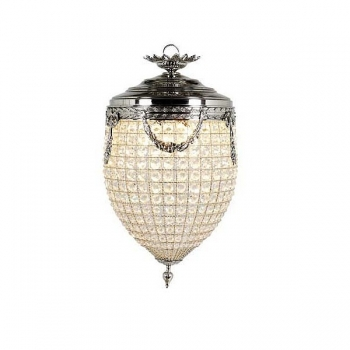 Eichholtz Design Ceiling Chandelier Empress, small, shiny nickeled/glass, h 58 x Ø 29 cm