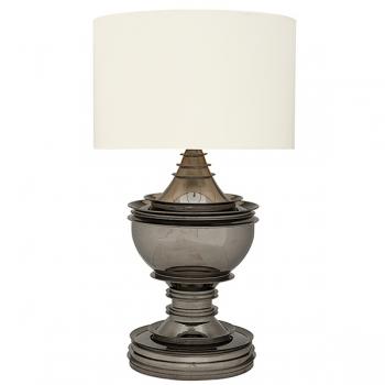 Eichholtz Design Floor Lamp Salon, black nickeled/chintz shade white Ø 70 cm, h 120 x Ø 50 cm